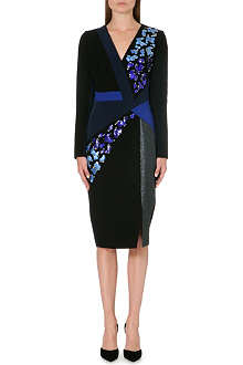 PETER PILOTTO Embellished metallic-panel dress