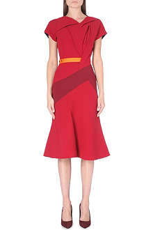 PETER PILOTTO Sash panelled wool dress