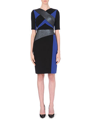 PETER PILOTTO Kia block-coloured wool dress