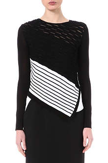PETER PILOTTO Asymmetric-hem knitted jumper