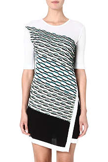PETER PILOTTO Printed cotton-blend dress