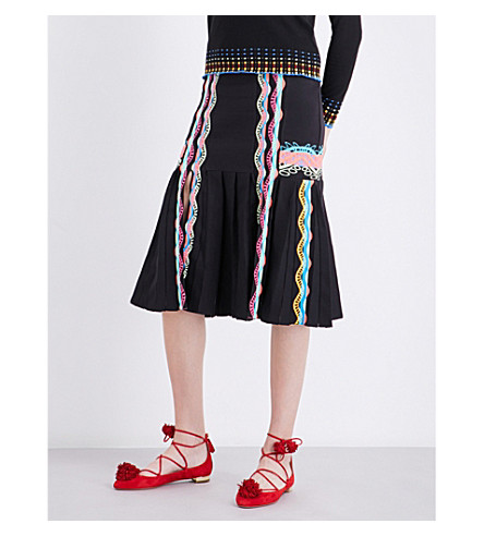PETER PILOTTO Patterned knitted skirt (Multi