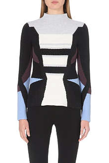 PETER PILOTTO Turtleneck wool-blend jumper