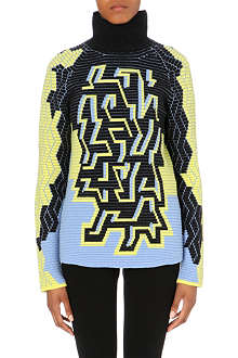PETER PILOTTO Graphic wool-blend turtleneck jumper