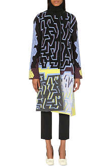 PETER PILOTTO Graphic wool-blend coat