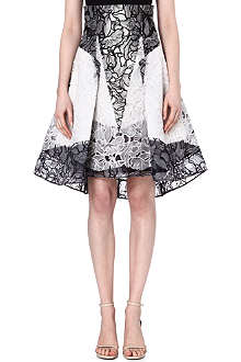 PETER PILOTTO Floral lace skirt