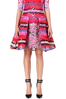 PETER PILOTTO High-waisted floral-lace skirt