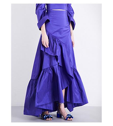 PETER PILOTTO Ruffled taffeta maxi skirt (Purple