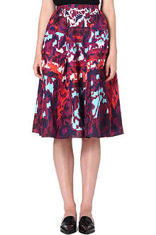 PETER PILOTTO Printed silk-blend skirt