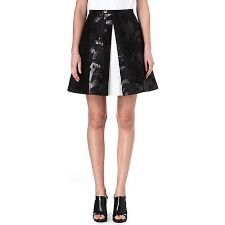 PETER PILOTTO Grace layered-front skirt (Black