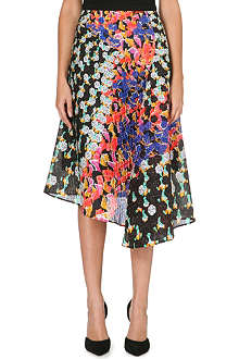 PETER PILOTTO Diamond-print asymmetic skirt