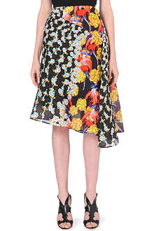 PETER PILOTTO Bek diamond-print asymmetic skirt