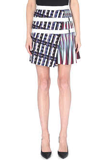 PETER PILOTTO Asymmetric printed mini skirt