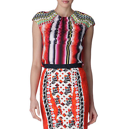 PETER PILOTTO Printed silk top (Red