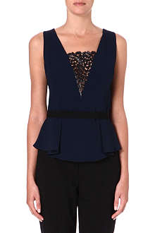 PETER PILOTTO Lace-insert stretch-crepe top