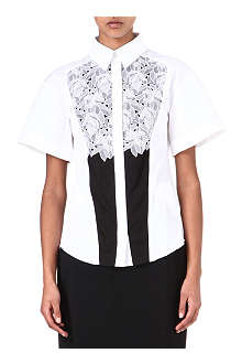 PETER PILOTTO Cate lace-panel shirt