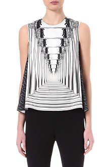 PETER PILOTTO Astrid mirror-print top