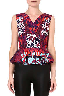 PETER PILOTTO Printed peplum top
