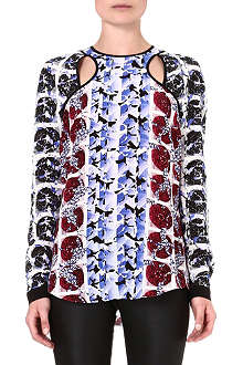 PETER PILOTTO Printed silk top