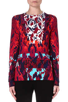 PETER PILOTTO Printed stretch-crepe top