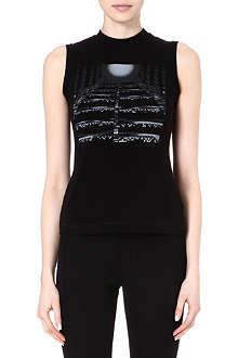 PETER PILOTTO Tunnel-print sleeveless top
