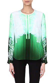 PETER PILOTTO Long-sleeved silk top