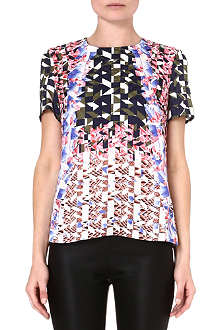 PETER PILOTTO Printed silk t-shirt