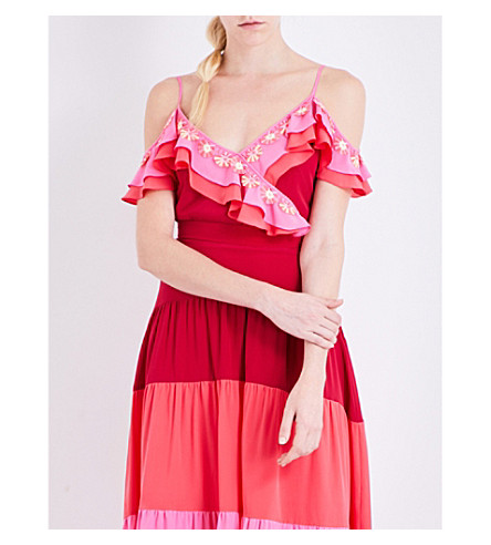 PETER PILOTTO Tiered silk top (Pink