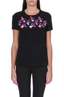 PETER PILOTTO Embellished stretch-crepe top