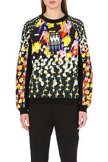 PETER PILOTTO Cheerleader-print cotton sweatshirt