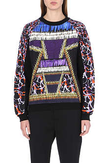PETER PILOTTO Gymnastics-print cotton sweatshirt