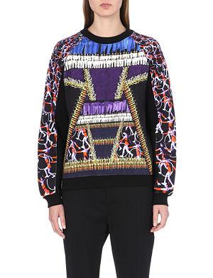 PETER PILOTTO Gymnastics-print cotton sweatshirt