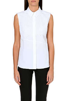 PETER PILOTTO Lace-detailed cotton shirt