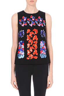 PETER PILOTTO Lex embellished wool-crepe top