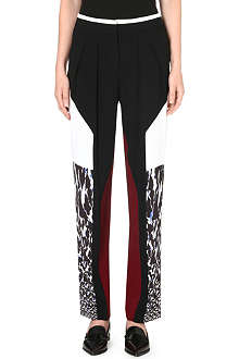 PETER PILOTTO Contrasting panel trousers