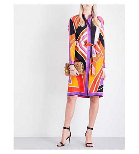 EMILIO PUCCI Stella archive-print silk-twill dress (Viola/fuxia