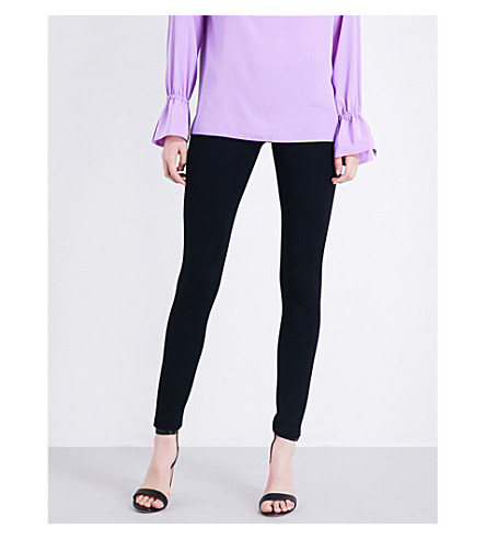 EMILIO PUCCI High-rise stretch-knitted leggings (Nero