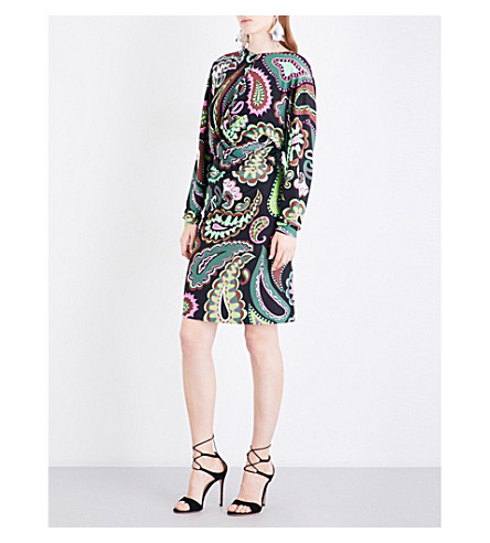 EMILIO PUCCI Paisley-print jersey dress (Green