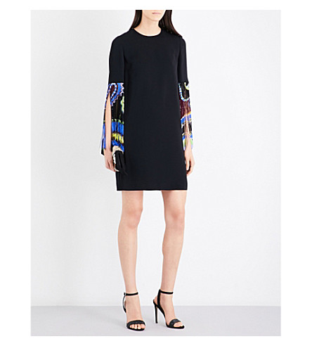 EMILIO PUCCI Paisley tassel crepe dress (Black