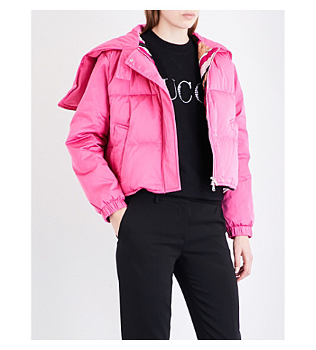 EMILIO PUCCI Cropped shell puffer jacket (Pink