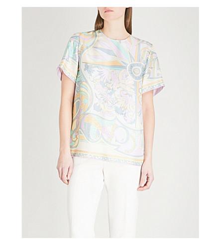 EMILIO PUCCI Floral-print silk top (Glicine