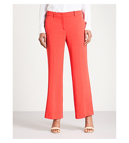 EMILIO PUCCI Wide cropped high-rise crepe trousers (Rosso