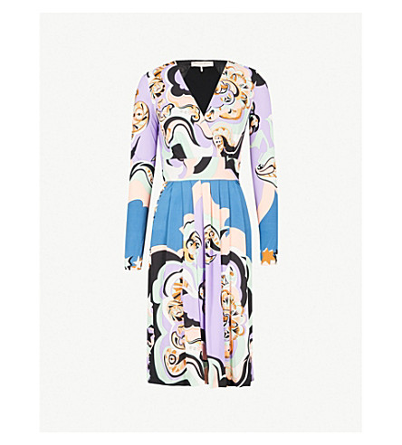 EMILIO PUCCI Wrap-over jersey dress (Rosa+avio+2