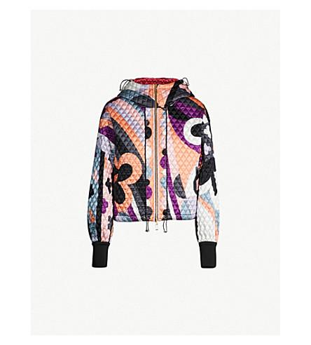 EMILIO PUCCI Signature print quilted stretch-silk-satin jacket (Nero pesca