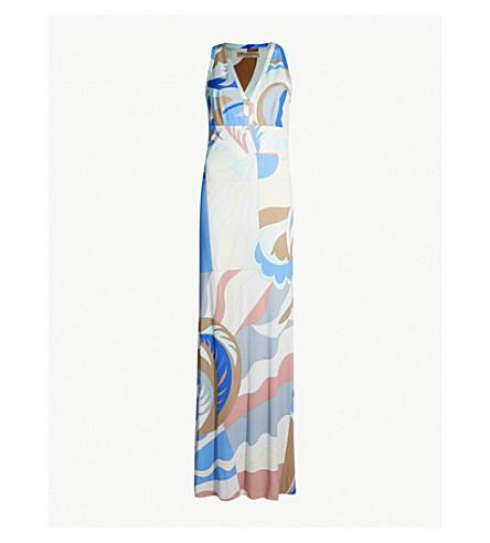 EMILIO PUCCI Printed pleated jersey maxi dress (Talpa fioraliso