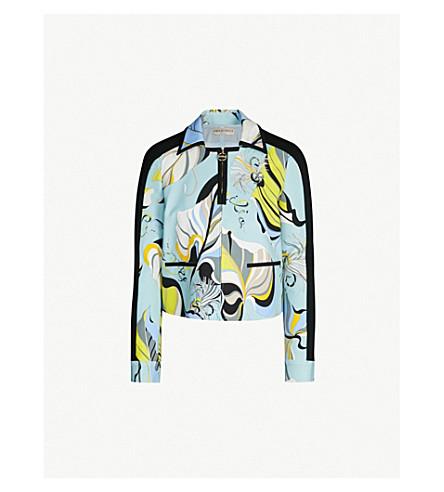 EMILIO PUCCI Signature-print stretch-jersey jacket (Celeste