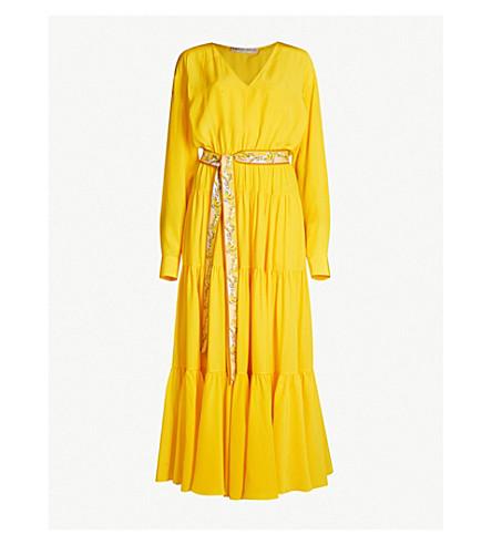EMILIO PUCCI Belted silk-crepe dress (Giallo