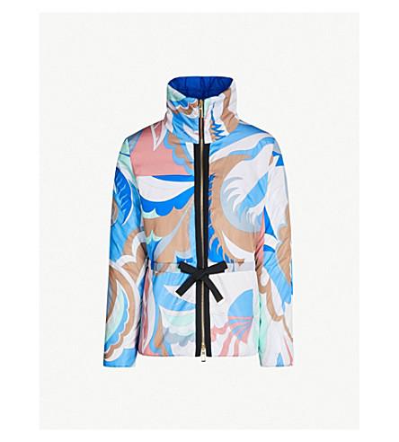 EMILIO PUCCI Funnel-neck printed shell jacket (Talpa fioraliso