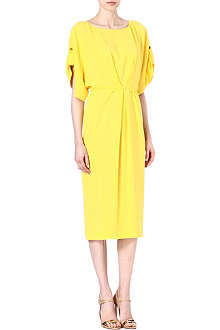 VIONNET Boat-neck crepe dress