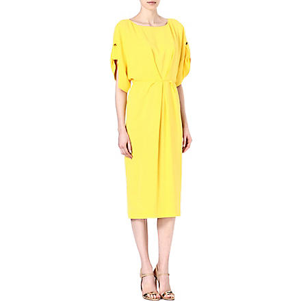 VIONNET Boat-neck crepe dress (Saffron